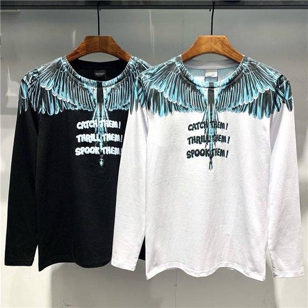 p2019 Diseñador de la marca de verano Ropa de hombre Camiseta blanca Estampado de moda Camiseta Euro Tamaño M-3XL