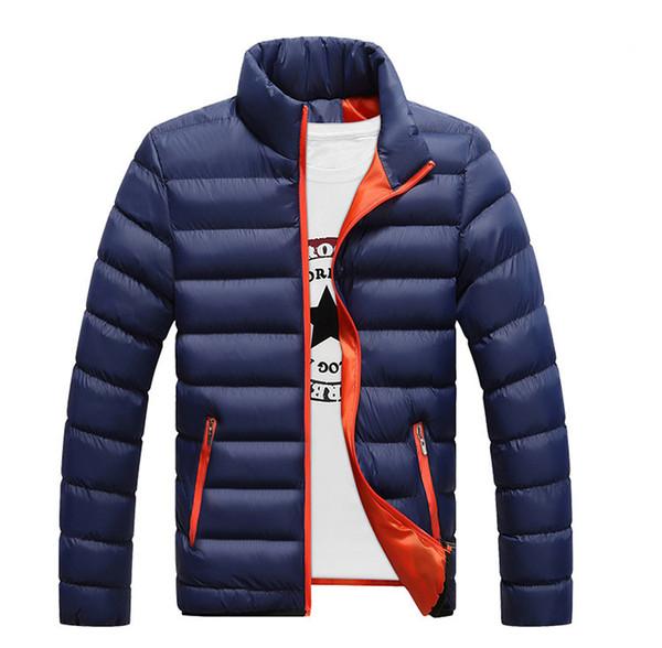 Winter jackets mens thicken wadded leather Coat Jaqueta Masculina winter jacket men stand Collar windbreaker Parka Coats J4