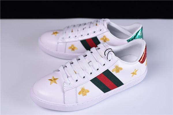 Satın Al 23 Yüksek Kalite Deri Beyaz Spor Ayakkabı Markalı Küçük Arı