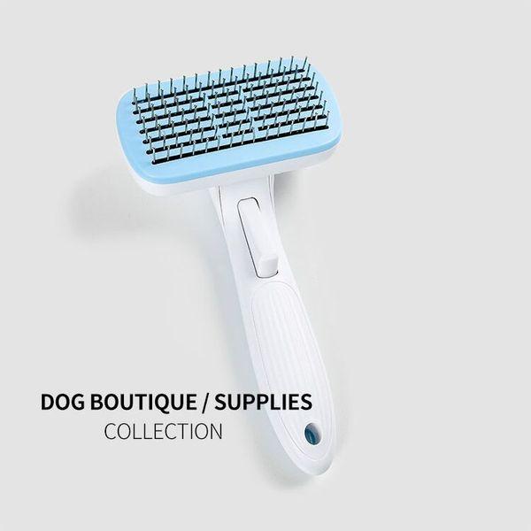 Automatic dog hair removal comb Pet Deshedding Tool Dog Pet Grooming Tool Dog Brush Hair Comb for Dogs Cats Pets Pet Supplies