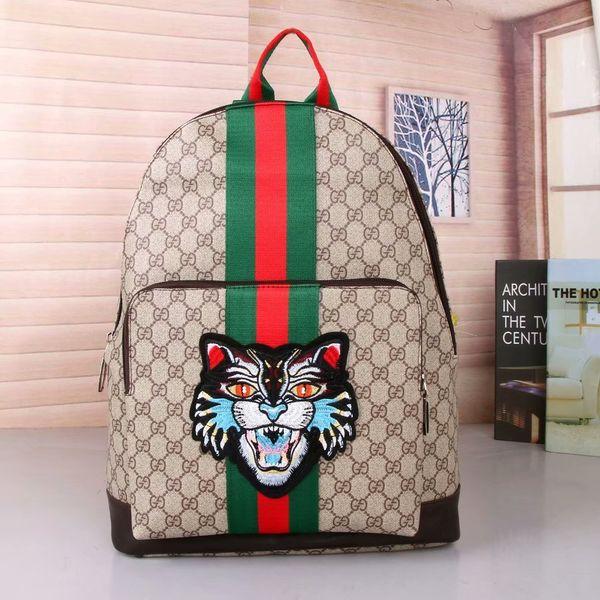 5816374b5b5 2019 New High quality men and women fashion leather fabric pattern handbags  storage shoulder bag tiger