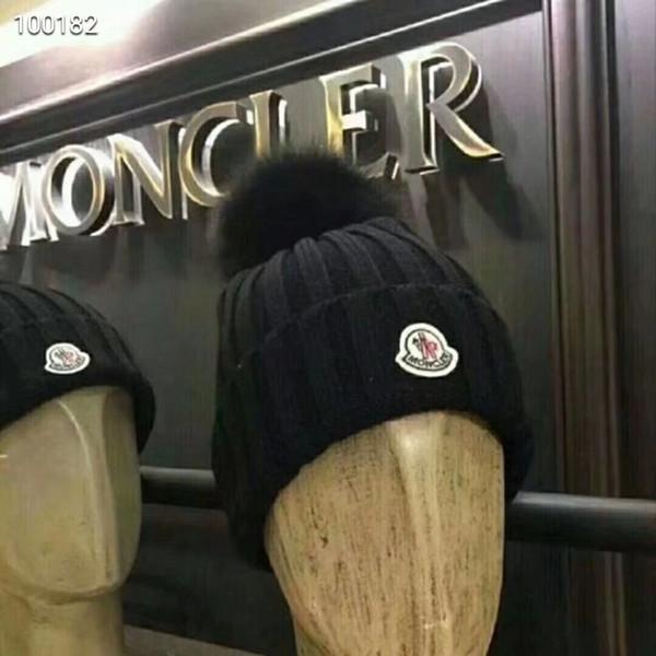Hot moda nova CANADA mens designer chapéus gorro inverno gorro de lã tricotada chapéu além de gorros de veludo mais grosso máscara Fringe Ganso gorros