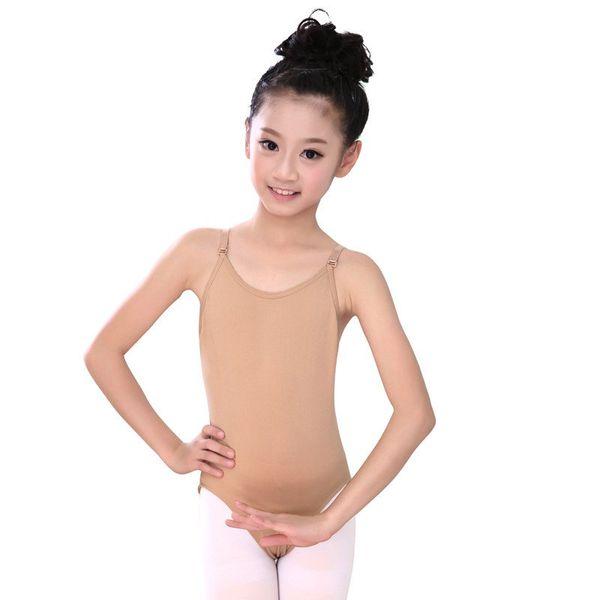 Niños ropa interior del ballet Leotardo desnuda Correa presente inconsútil atractivo camisola color de piel de Gimnasia Leotardo de chicas niños Dres ballet