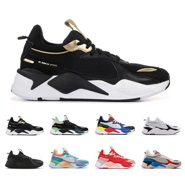 Top qualité RS-X Reinvention Hommes occasionnels Chaussures de course Triple papa noir Creepers haute qualité Hommes Femmes Trainer taille de sport 36-45