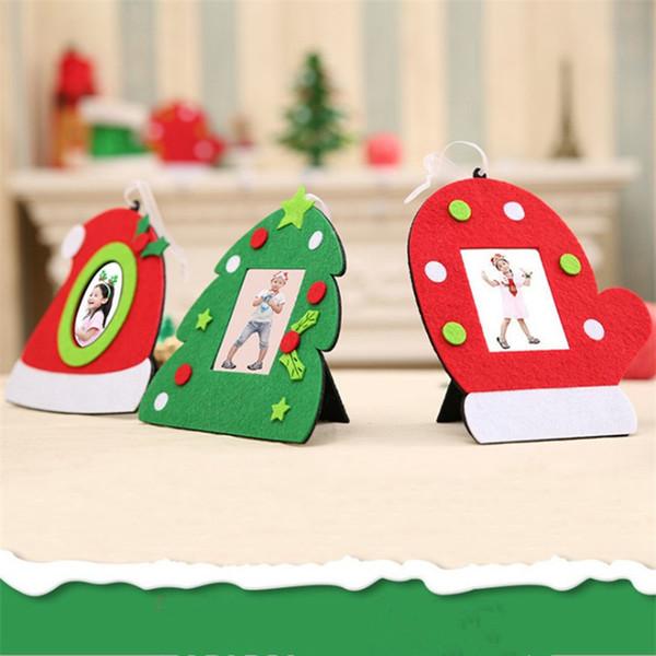 3 Styles photo Dossier Mode Noël Cadre photo multifonction ORNEMENT Accueil Décorations de table de Noël pour Festival Party RRA2241