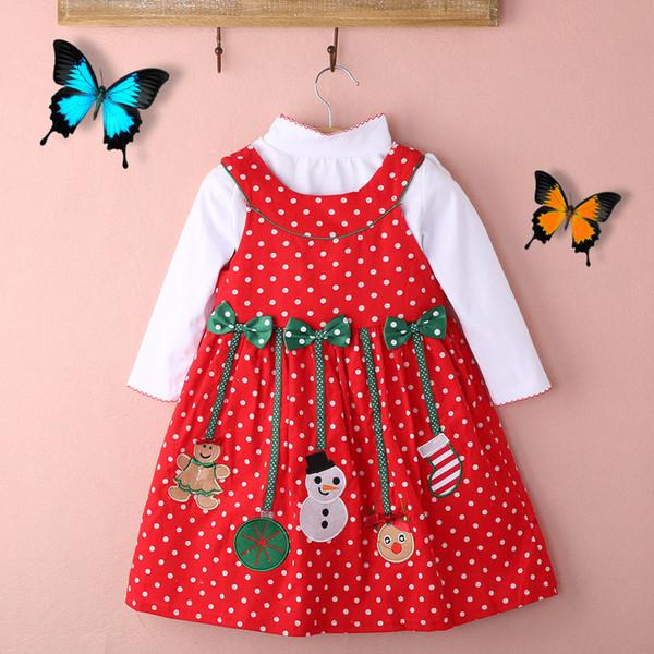 2 Unids Vestido de Niñas de Navidad Para Niños Pequeños Camiseta de Manga Larga + Falda Vestido de Princesa Fiesta Concurso Vestidos Infantiles Para Niñas Ropa
