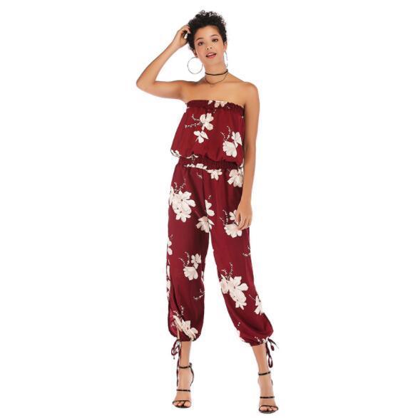 Summer Women's Jumpsuits Designer Capris For Women Casual Rompers Fashion Women Clothing M-XL Wholesale