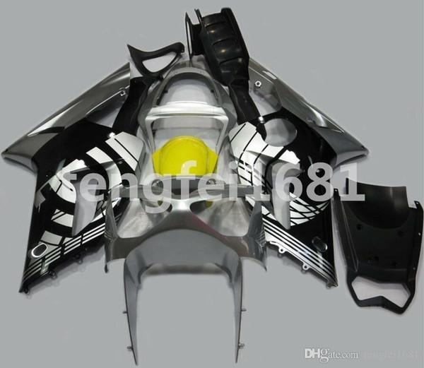Nuovo stampo a iniezione ABS per moto Kit Carena per Kawasaki Ninja 636 ZX6R 2003 2004 moto carenatura corpo di costume Nero Giallo Grigio