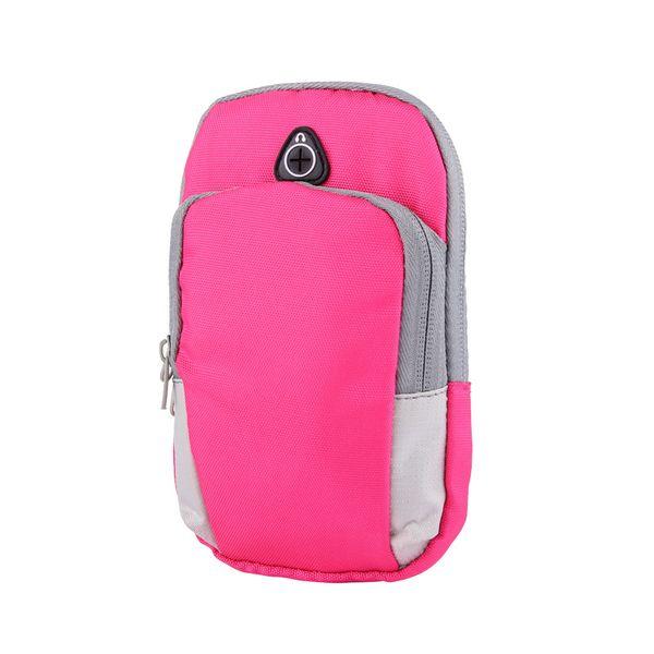 Sport mobile phone arm bag belt iPhoneX bag men and women running fitness cycling nylon arm bag for wholesale