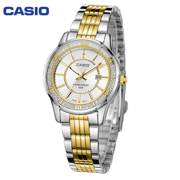 Relógio clássico 2017 chegada clássico de luxo moda feminina relógio de pulso de quartzo 100% relógio original LTP-1358