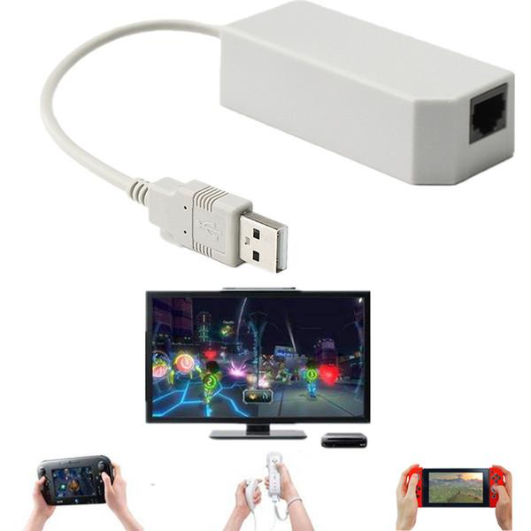Internet USB Ethernet LAN Réseau Câble Plug and Play Pour Nin Changer NS Pour LAN Wii / U Adaptateur réseau à grande vitesse