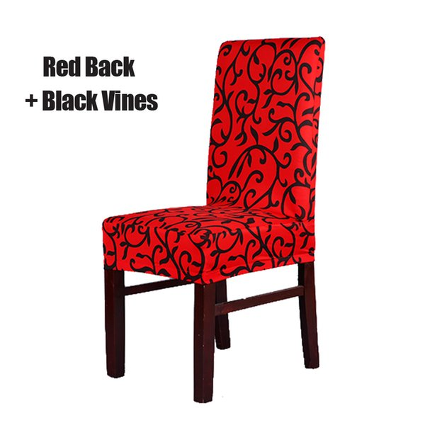 Red and Black Stretch Chair Cover