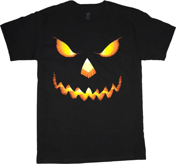Big et Jack citrouille t-shirt haut o tee shirts lanterne d'Halloween pour les hommes en noir à manches courtes T-shirt Livraison gratuite à bas prix totalités