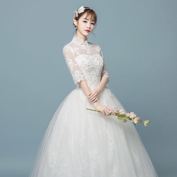 2019 dream of Wedding Dress Bride Winter Wedding Leader Sleeve winter autumn skirt dress wearing party