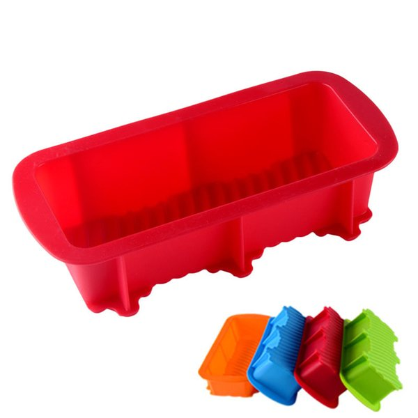 Baking Dishes Silicone Cake Mould Pan Oven Rectangle Mould Silicone Bread Loaf Cake Mold Forms Non Stick Kitchen Tools HH7-1963