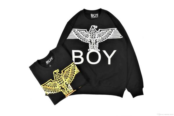 GARÇON Sweatshirt Survêtement London Fashion Brand Sweat-shirt sans capuche de luxe Femmes / hommes Top qualité long sweat à capuche Outerwears Imprimé Signe original