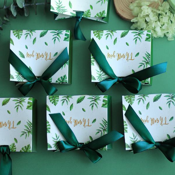 Caja de dulces Bolso pequeño Bolso Bolsas de regalo de boda Papel Kraft Baby Shower Favores Suministros para fiesta de cumpleaños Decoración