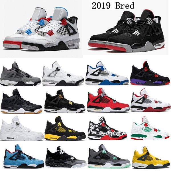 What Is The M In Shoe Size.What The 4 Cool Grey Bred 4s Basketball Shoes White Cement Men Royalty Flight Nostalgia Sneakers Fire Red Designer Sneakers Size 7 13 Basketball Shoe