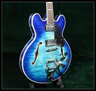 Starshine High Quality Semi Hollow Body Electric Guitar YL-HQB1 Bridge Quilted Maple Top 6 Positions