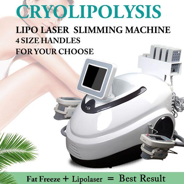 CE diyot lipolaser ekipmanları cryolipolysis zayıflama rf vakum zayıflama makinesi yağ donma kolu ile 4 farklı boyut
