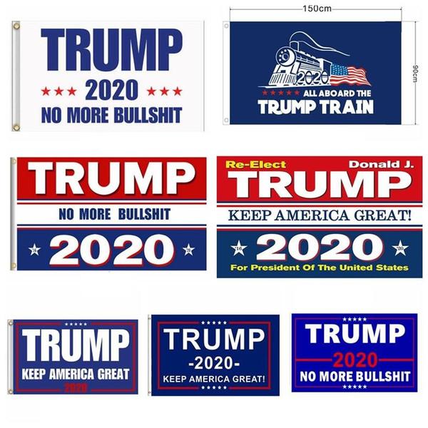 Nuevas banderas Trump de EE. UU. 90 * 150 cm Jardín al aire libre Decorar Presidente de EE. UU. Elección general Banner 2020 Trump Flag Banderín Banner 5077