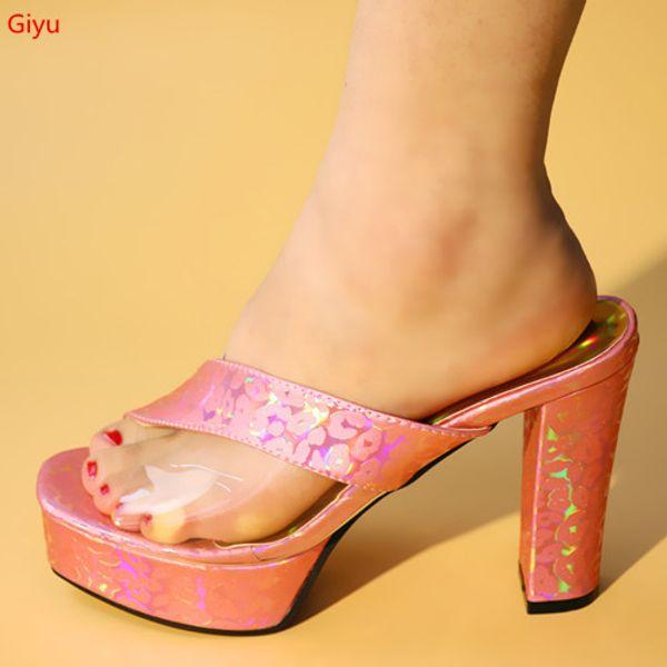 African Slippers Summer High Heels Open Toes African Sandals Heels Pumps African Wedding Shoes Italian Design Shoes GF1-13