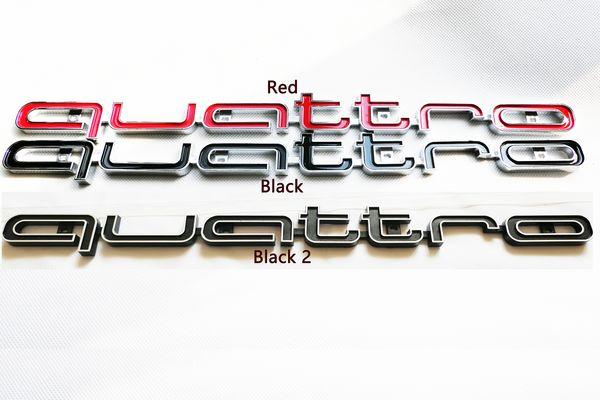 아우디 A1 A3 A4 A5 A6 A7 A8 Q3 Q5 TT 자동차 액세서리 RS 스타일 3D 스티커 전면 콰트로 상징 그릴 배지 트림