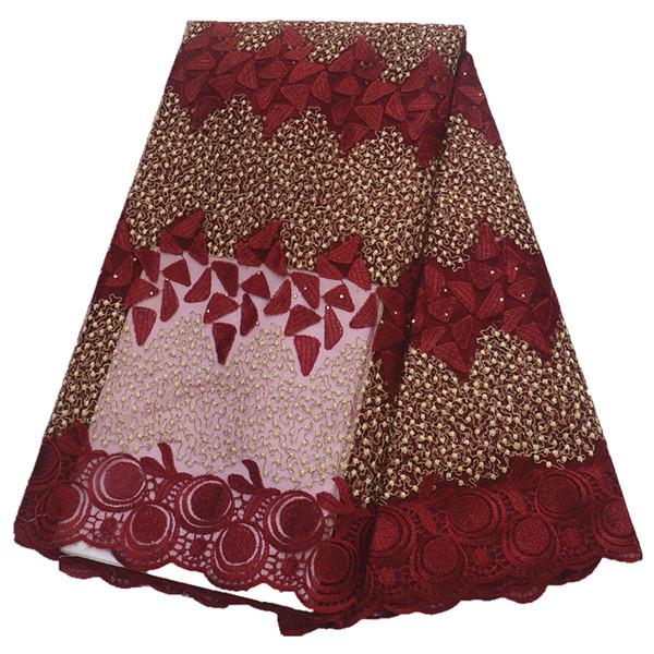 tissu en dentelle africaine 2019 tissu en dentelle de tulle gros pas cher filet dentelle française pour les femmes robe 5yards