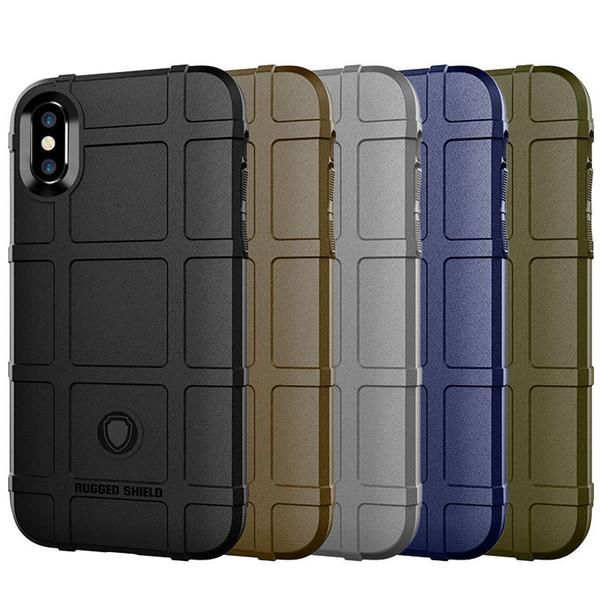 Estuche protector blindado resistente para iPhone X XR XS MAX 360 grados de silicona blanda híbrida completamente cubierta Funda mate a prueba de golpes SCA546