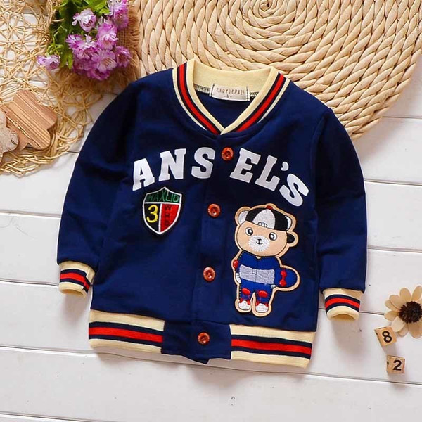 good quality baby boys coats jackets autumn cartoon cotton swearshirt for infant clothing toddle kids cardigan children outerwear