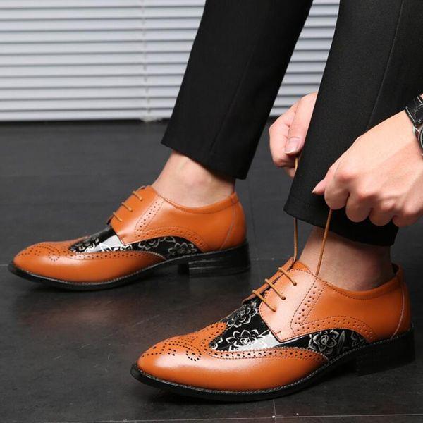 Los hombres de verano masculino bussiness pisos hombre formal con cordones brogue zapatos para hombre vestido de conducción zapatos de hombres personlizar zapatos C01500