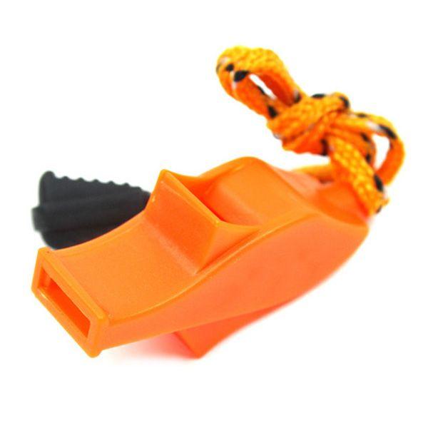 4 colori in plastica Sport Whistles con la cordicella forte suono nitido Dolphin Fischi per gli arbitri Coaches funzionari esterno di sopravvivenza strumento M616F