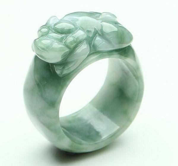 Jade artesanía jade de Myanmar un anillo de suerte poco profundo jade natural al por mayor