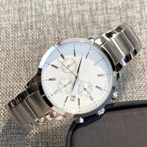 Steel white dial