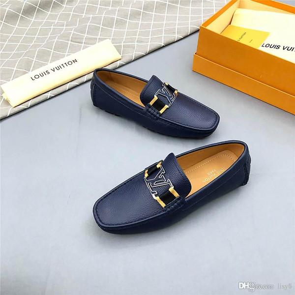 20ss Ünlü Markalar İtalyan Ayakkabı Erkek İtalyan Elbise Ayakkabı Dipleri Dantel-ups Hakiki Deri Gri erkek Boyutu 38-45 Kutusu Ile