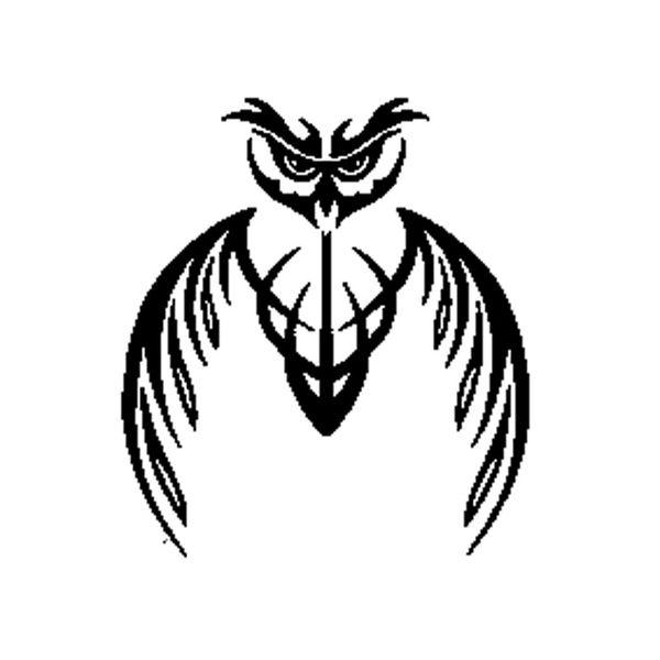 Owl Bird Abstract Tribal Mascot Fashion For Auto Car/Bumper/Window Vinyl Decal Sticker Decals DIY Decor CT1067