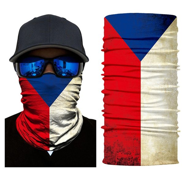 3D National Flag Seamless Bandana Country Neck Gaiter MTB Escursionismo Pesca Balaclava Tubo Scaldacollo Masque Copricapi Visiera