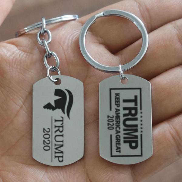 Trump 2020 Porte-clés Tag Gardez l'Amérique Grand Pendentif Porte-clés Porte-clés Fans Souvenirs Cadeau Porte-clés Bijoux Accessoires MMA1716
