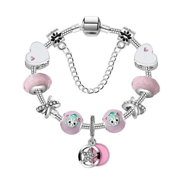 bb84fb2a2c24 18 19 20 CM Pulsera con dijes 925 pulseras de plata para mujeres Royal  Heart Bracelet