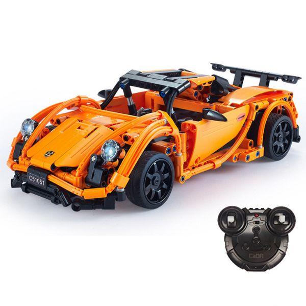 CADA Technic Series Super Sports RC Car Model fit legoed Building Block Bricks Sets Remote Control Racer Cars Toys Kid Gift