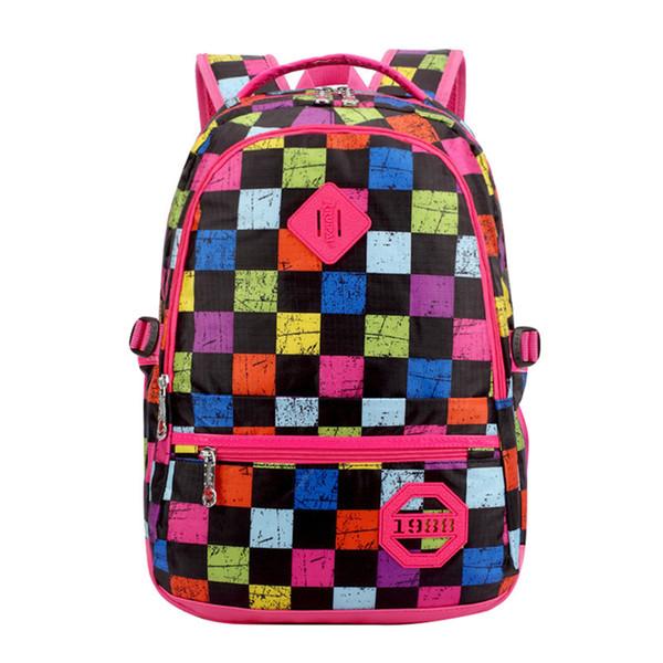Fashion Women Backpacks For Teenage Teen Girls Canvas Backpack Plaid Feminine Backpack School Bagpack Girl Mochila Feminina Bag