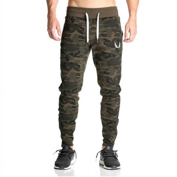 Nouveaux Hommes Gasp Workout Bodybuilding Vêtements Casual Camouflage Hommes Pantalons de Jogging Joggers Pantalons Pantalon Maigre Chaud Q190514