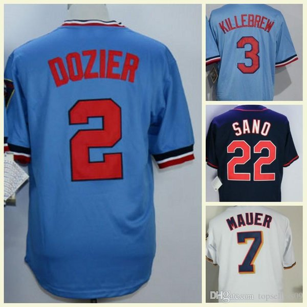 Minnesota Men Coolbase 3 Harmon Killebrew 7 Joe Mauer 4 Paul Molitor 22 Miguel Sano 34 Kirby Puckett Baseball Jersey