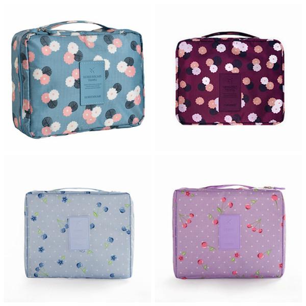 Bolsa de maquillaje cosmético impermeable de múltiples funciones con la manija Cómoda bolsa de almacenamiento de bolsillo de viaje bolsa de aseo RRA1067