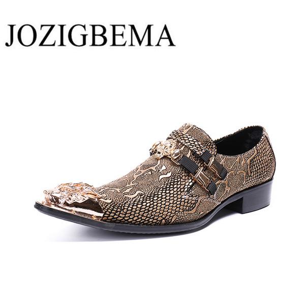 Marka Erkekler Hakiki Deri Sivri Burun Oxford Deri Ayakkabı Iş Ayakkabıları El Yapımı Rahat Erkek Resmi Toka