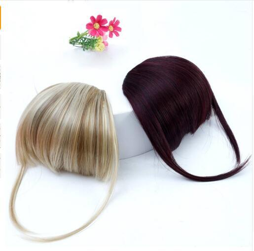 Bangs Clip in Hair Extensions Front Neat Bang Fringe One Piece Striaght Hair With High Temperature Synthetic Fiber Hair
