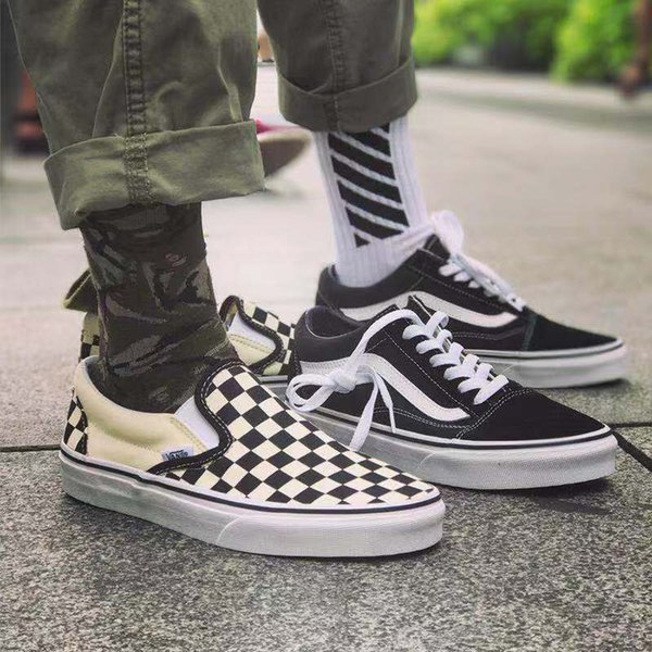 2019 New Van OFF THE WALL old skool FEAR OF GOD Per uomo donna sneakers in tela YACHT CLUB MARSHMALLOW moda skate scarpe casual