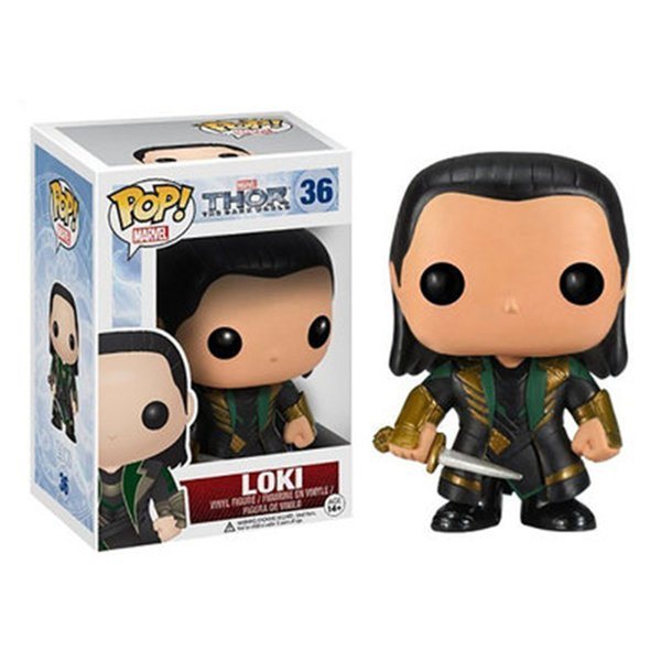 Funko Pop Movie Thor 2 Loki Action Figure Model Toys Doll Ornaments Toys Collection Model Birthday Christmas Gifts Toys for Children Funko