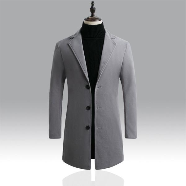 De alta calidad abrigo de lana de lana de invierno chaqueta de los hombres Blend otoño rompevientos hombres de la marca de abrigos para hombre Outwear chaquetas casuales