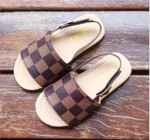 87e81ecf5a30c NEW Brand LOUIS VUITTON Children'S Shoes Children'S Sandals 2019 New Summer  Princess Shoes Korean Sandals Hot Sale Beach Shoes#3 Childrens Slippers ...